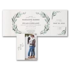 greenery wedding invitation: Darling Greenery