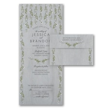 rustic invitation: Draped Vines