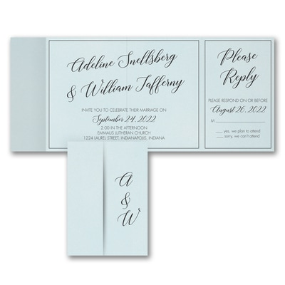 Classy Calligraphy - All 'n One Invitation