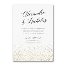 Modern wedding Invitation: Shining Confetti