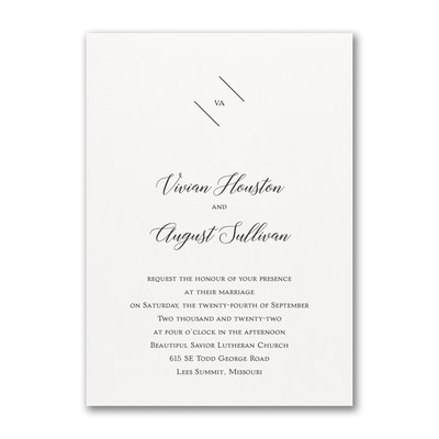 Minimalist Style - Invitation