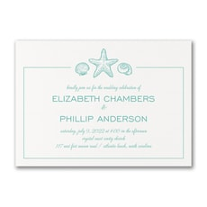 Sea Romance - affordable and cheap invitation