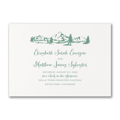 Mountains & Evergreens - Invitation