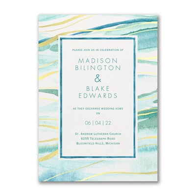Shimmering Waves - Invitation