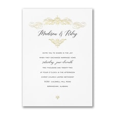 Vintage wedding invitation: Regal Finish