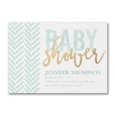 Trendy Shower - Baby Shower Invitation