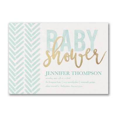 Trendy Shower - Baby Shower Invitation