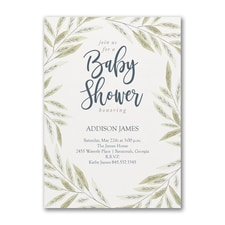 Baby Greenery - Baby Shower Invitation