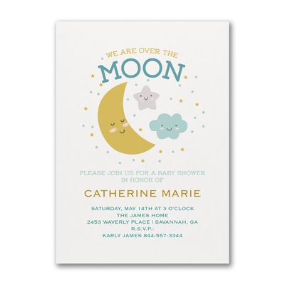 Darling Moon - Baby Shower Invitation