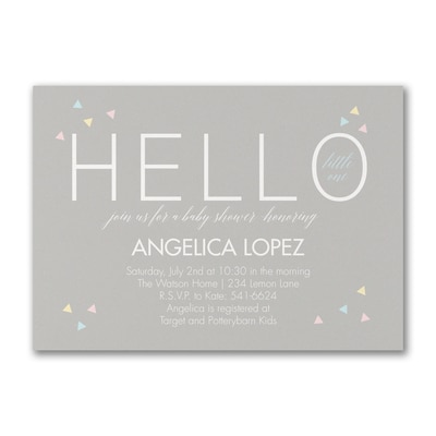 Hello Baby - Baby Shower Invitation