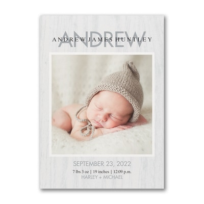 Happy Arrival - Photo Birth Announcement