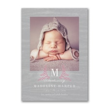 Modern Joy - Photo Birth Announcement