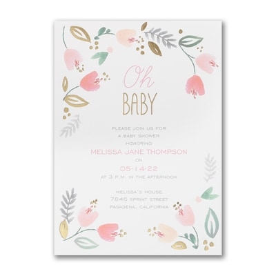 Precious Baby - Baby Shower Invitation