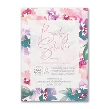Blooming Shower - Baby Shower Invitation