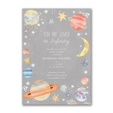 Infinity Love - Baby Shower Invitation
