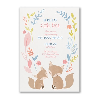 Hello Little One - Baby Shower Invitation