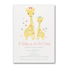 Baby Giraffe - Baby Shower Invitation