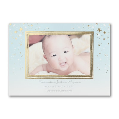 Beautiful Star - Photo Birth Announcement