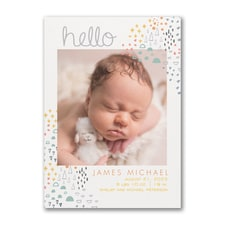 Happy Baby - Photo Birth Announcement