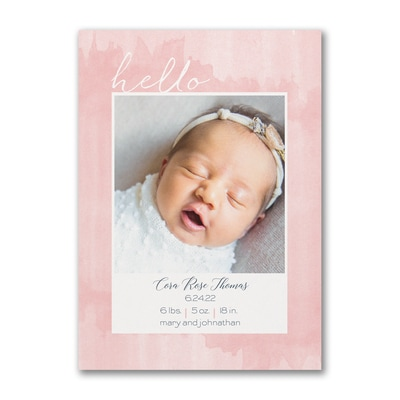 Happy Introduction - Photo Birth Announcement