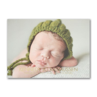 All Baby - Photo Birth Announcement - Horizontal