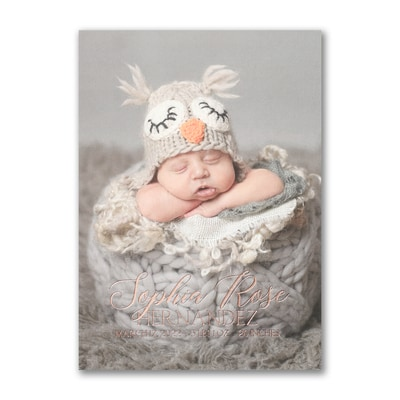 All Baby - Photo Birth Announcement - Vertical