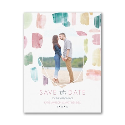 Colorful Date - Save the Date - Small