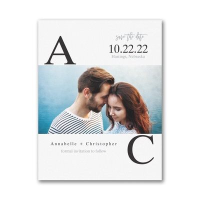 Broad Initials - Save the Date - Small