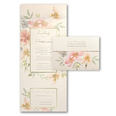 Glowing Floral  - All In One Invitation