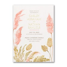 Luxurious Grasses Invitation