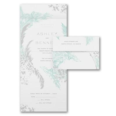 Fine Feathers - Seal 'n Send Invitation