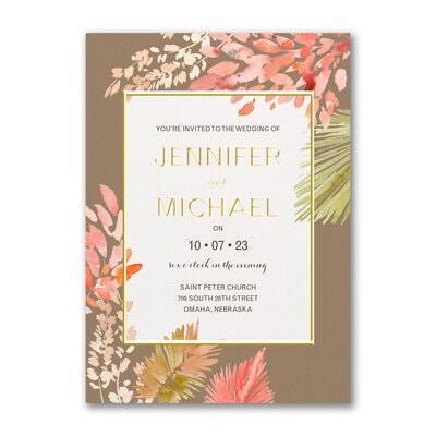Lush Leaves Invitation
