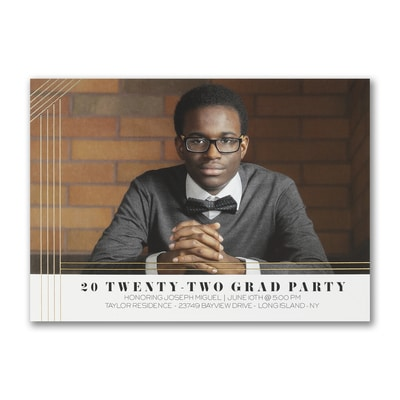 Party Lines - Graduation Invitation