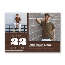 Accented Lines - Graduation Announcement