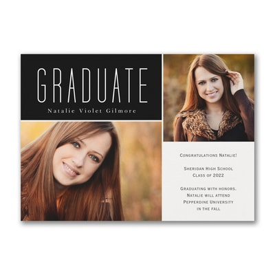 Segmented Graduate - Graduation Announcement