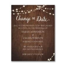 Rustic Evening - Change the Date