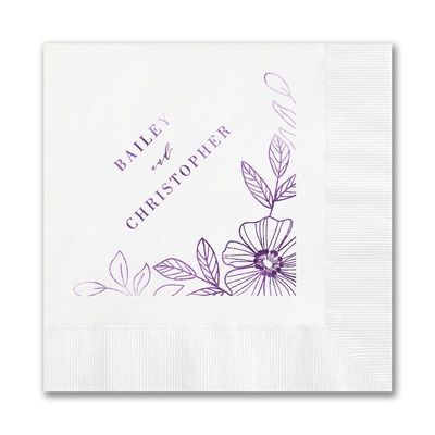 Blossoming Border Napkin - Luncheon