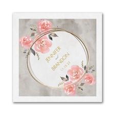 Pastel Roses Napkin - Beverage