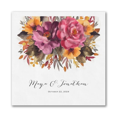 Fall Floral Napkin - Luncheon