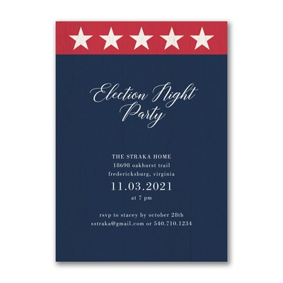 Patriotic Go Vote Invitation