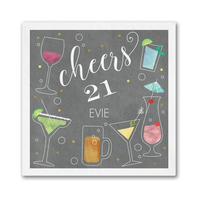 Birthday Cheers Napkin - Beverage