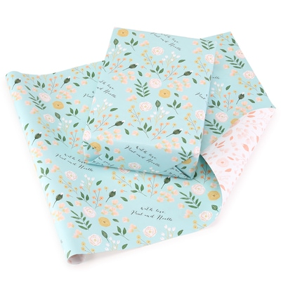 Charming Blossoms Reversible Wrapping Paper