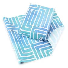 Painted Geo Reversible Wrapping Paper - Blue