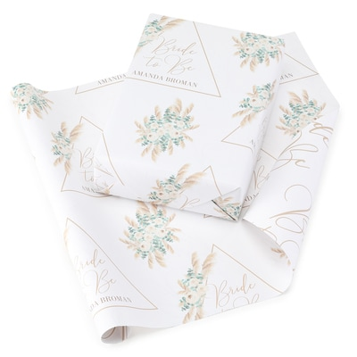 Bride to Be Reversible Wrapping Paper