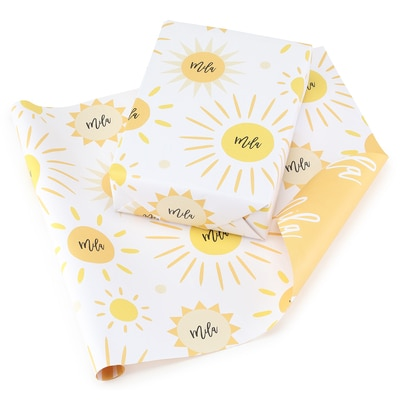 Sunshine Reversible Wrapping Paper