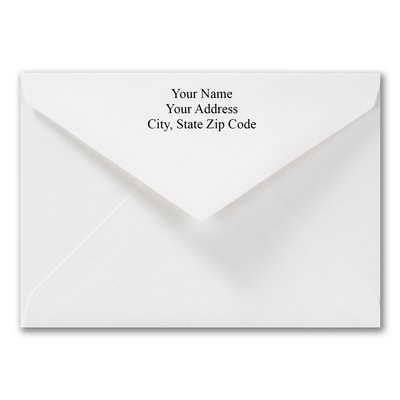 3 5/8 x 5 1/8 Thank You Printed Envelope - White