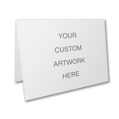 Small Sized Full Color Card with Top Fold