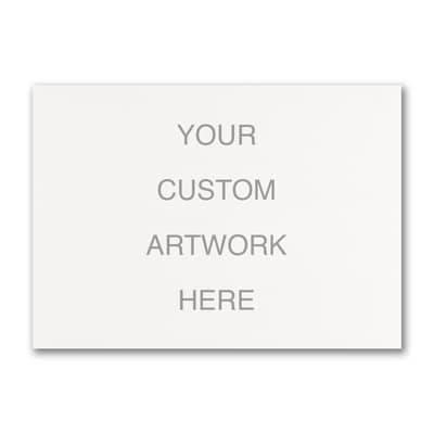Large Sized Full Color Flat Card - Horizontal