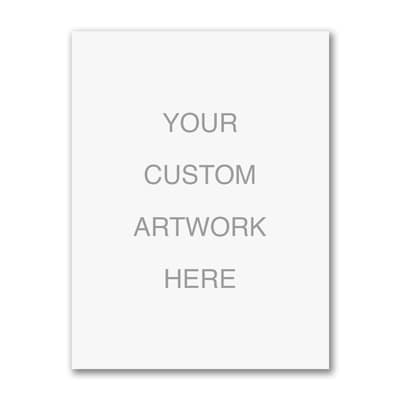 Medium Sized Full Color Flat Card - Vertical