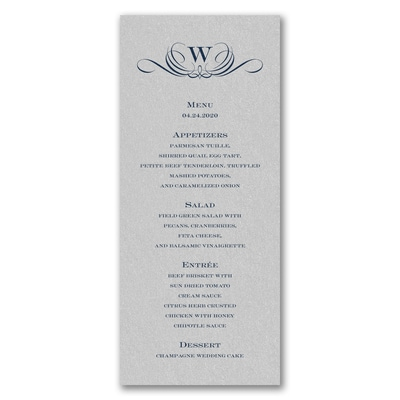 Celebration Card - Tea Length - Silver Shimmer